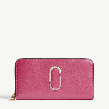MARC JACOBS Double J Saffiano leather continental wallet