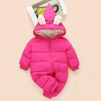 Newest Winter Outwear Baby Clothes Warm for Newborn Cotton Infant Baby Girl Boy Clothing Thickening Jumpsuit