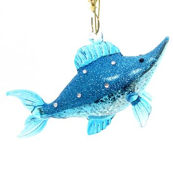 Holiday Ornaments Swordfish Glass Ornament