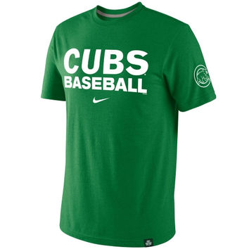 Chicago Cubs St. Paddy's Day Premium Tri-Blend T-Shirt - Kelly Green