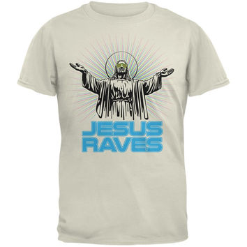 Jesus Raves Natural Adult T-Shirt