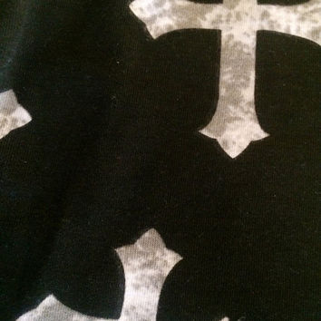 Baby leggings, toddler leggings, black and gray crosses, baby pants, toddler pants, children clothes, baby clothes