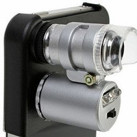 DC For Apple iPhone 4 60x Magnify Microscope with LED Light