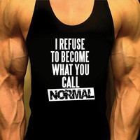 Mens Shirt. Mens Workout Tank Top. Gym Shirt. Gym Clothes. Muscle Tee. Singlet Tank. Racerback. Weight Lifting. Bodybuilding. Stringer Tank