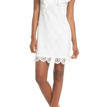 trina Trina Turk Neriah Eyelet Embroidered Dress | Nordstrom