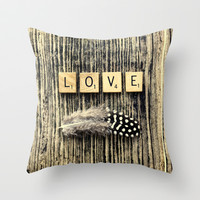 love Throw Pillow by ingz