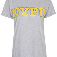 NYPD Tee by Tee And Cake - Grey Marl