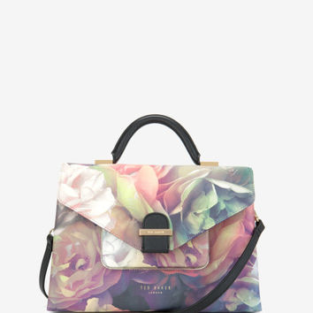 Large Technicolour Bloom tote bag - Black | Bags | Ted Baker ROW