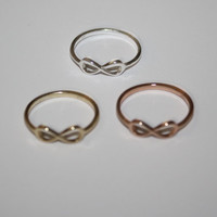 Tiny Sterling Infinity Ring