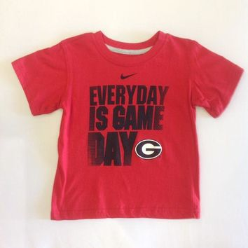 DCCKG8Q NCAA Georgia Bulldogs Nike Kids T Shirt