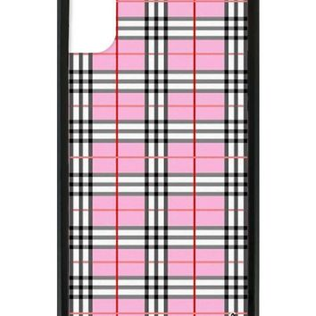 pink plaid iphone x case  number 1