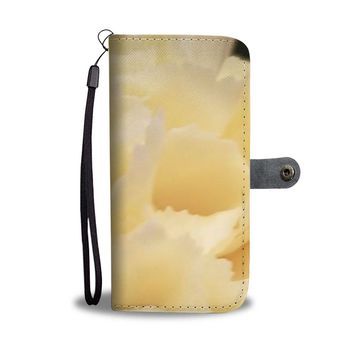 Yellow Carnation Flower RFID Wallet Case