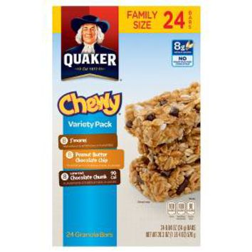 Quaker Chewy Granola Bars 24 Count Variety Pack