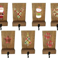 Stocking holder, mantle stockings, reclaimed wood, rustic Christmas