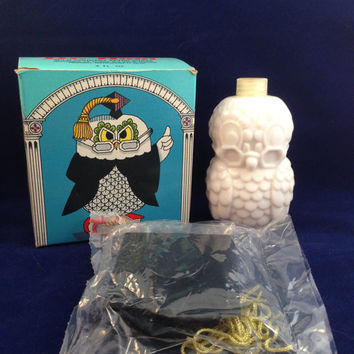 Unopened Avon Dr. Hoot OWL Sweet Honesty Bottle with original box Graduation Cap and tassel