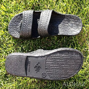kids black classic jandals® -  pali hawaii sandals