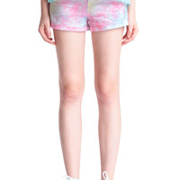 ROMWE | Main Pink Rolled-cuffs Shorts, The Latest Street Fashion