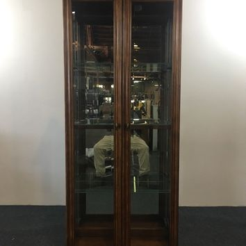 American of Martinsville Glass Front Two-Door Display Cabinet