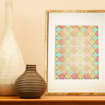 Poster Print - Distressed Moroccan - 8x10 or 11x14 For Your Home Decor