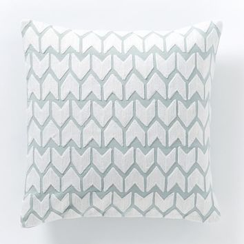 Coyuchi Crewel Arrow Pillow Cover