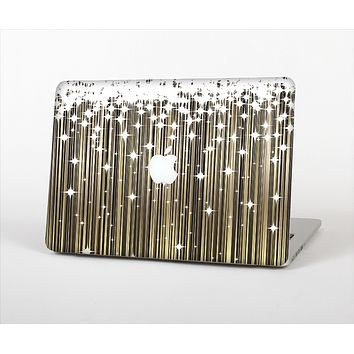 The Gold & White Shimmer Strips Skin Set for the Apple MacBook Air 11""
