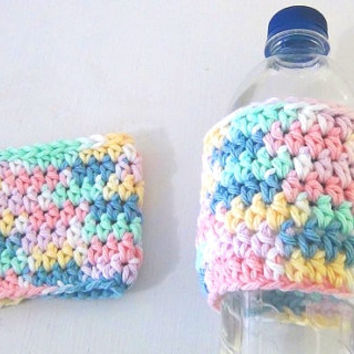 Cup Cozy - Easter Pastels - Spring Colors - Bottle Cozy - Set of 2