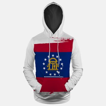Georgia State Flag Hoodie (Ships in 2 Weeks)