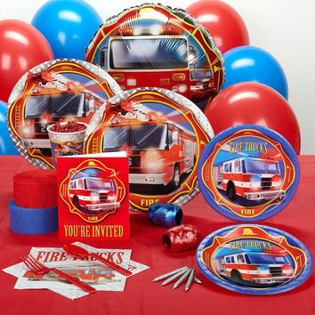 Fire Trucks Standard Party Pack