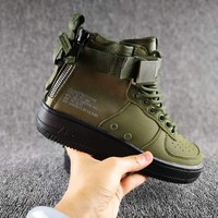 Originals Nike Special Field SF AF1 Mid Running Sport Casual Shoes 917753 Army Green Sneakers