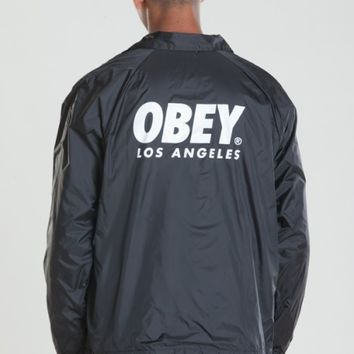 OBEY WORLDWIDE LOS ANGELES COACHES JACKET