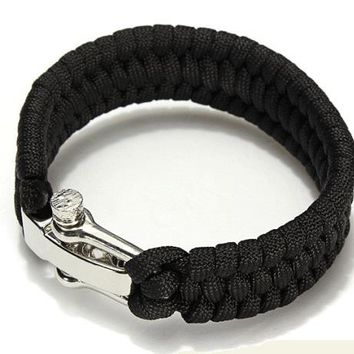 Outdoor Camping Paracord Bracelets for Men Women Parachute Rope Clasp Survival Bracelet Handmade Braided Jewelry Pulseras Hombre