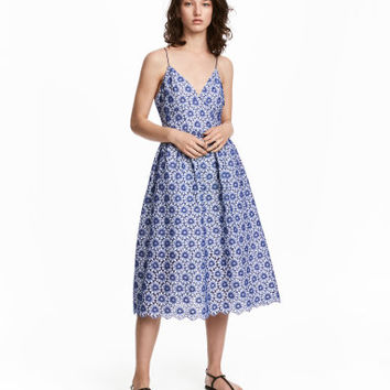 H&M Cotton Dress with Embroidery $99