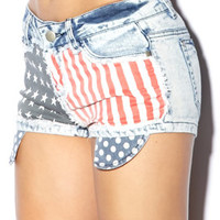Freedom Acid Wash Shorts