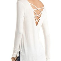 Strappy Back Zipper Pocket Top by Charlotte Russe