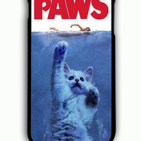 iPhone 6 Plus Case - Rubber (TPU) Cover with PAWS Movie Parody Funny cat attack Rubber Case Design