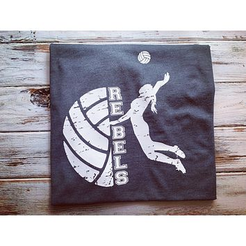 Rebels Volleyball shirt With Name/number on back