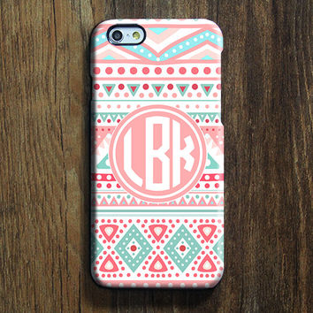 Pink Ethnic Monogram iPhone 6 Case iPhone 6 plus Case Custom Initials iPhone 5S Case iPhone 5C Case iPhone 4S Case Tribal Galaxy S6 Case 108