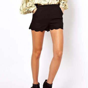 Casual Flounce Shorts With Pockets