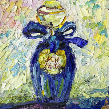 Perfume Bottle Painting Annick Goutal Starry Night