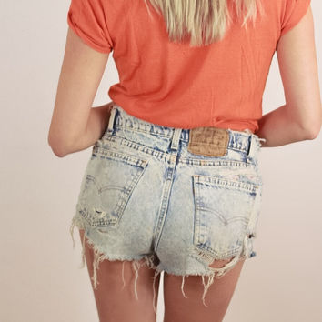 Vintage Levi's Acid Wash 506 Short Shorts