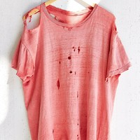 Vintage Red Destroyed Tee - Urban Outfitters