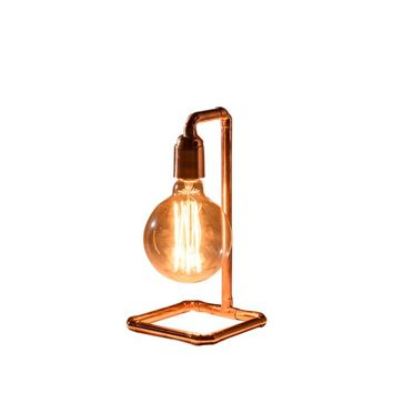 Pipe-Up Copper Table Lamp