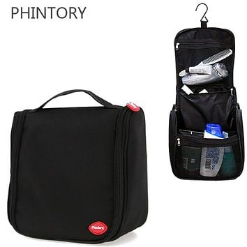 Waterproof Hanging Cosmetic Bag Men Travel Necessaries Organizer Makeup Bag Big CapacityOxford Women Wash Toiletry Bag