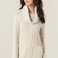 Kamala cable knit tunic sweater