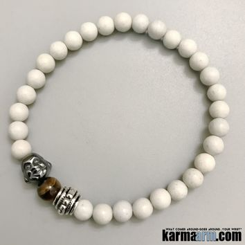 SELF LOVE: Feldspar | Tiger's Eye | Buddha | Yoga Chakra Bracelet