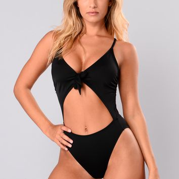 Royally Tied Swimsuit - Black