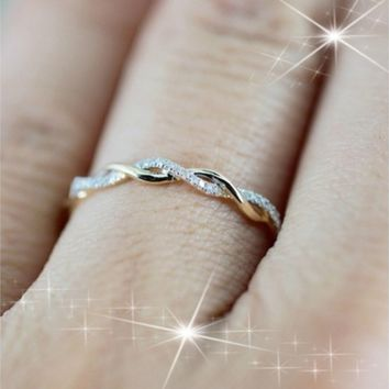 Twisted Shape,Diamond Wedding Band,FULL Eternity Ring,engagement Ring,stacking Matching Band,anniversary Ring,curved Design