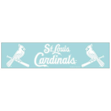 St. Louis Cardinals Official MLB 4 inch x 17 inch Die Cut Car Decal by Wincraft