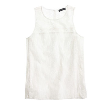 J.Crew Womens Seamed Shell In Zigzag Eyelet