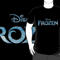 cold frozen movie cartoon logo black t-shirt tshirt shirt